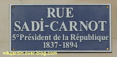 Poitiers, la nouvelle plaque de la rue Carnot