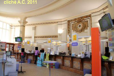 Poitiers, l'intérieur de la poste, 1, avant travaux en 2011, cliché A.C.