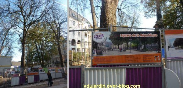 Poitiers, square de la République, 2, le pseudo affichage légal