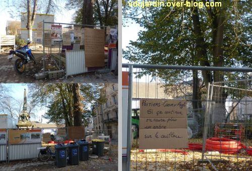 Poitiers, square de la République, 3, l'affichage d'Europe Ecologie les Verts