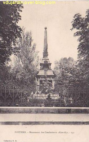 Poitiers, square de la République, 1, carte postale ancienne