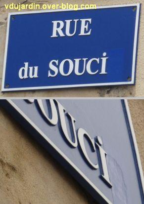 Poitiers, plaque de la rue du Souci