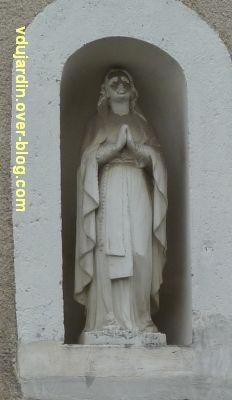 Poitiers, statues religieuses, 04, sainte rue Roche d'Argent