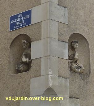 Poitiers, statues religieuses, 07, anges, rue Faguet