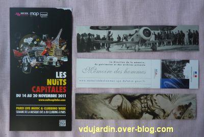 Envoi de Capucine O en décembre, carte à publicité et marque-pages