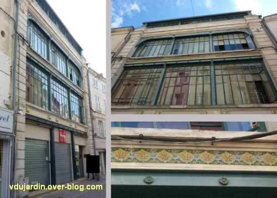 Niort, magasin à la Ménagère, 5, la façade postérieure, montage de photographies