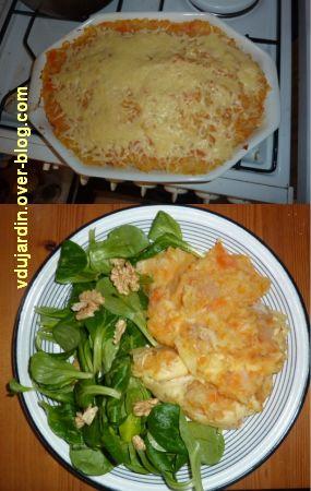 Avec le panier de la semaine 46, 5, parmentier de poule, céleri, carottes et pommes de terre