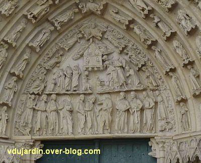 Poitiers, cathédrale, portail de Thomas, 02, le tympan
