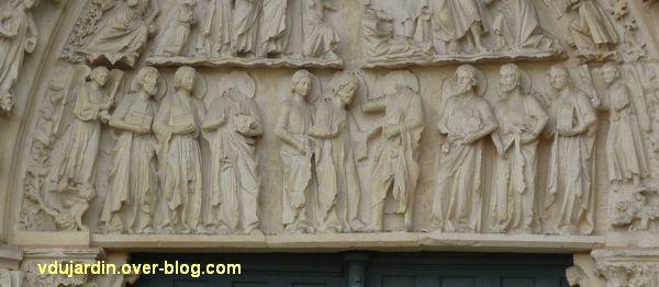 Poitiers, cathédrale, portail de Thomas, 03, le registre inférieur