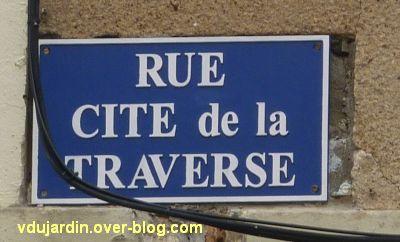 Poitiers, plaque de la cité de la traverse