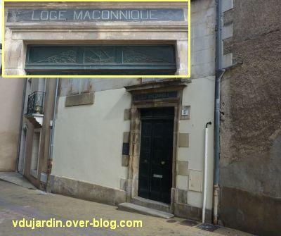 poitiers, la loge maçonnique rue du trottoir