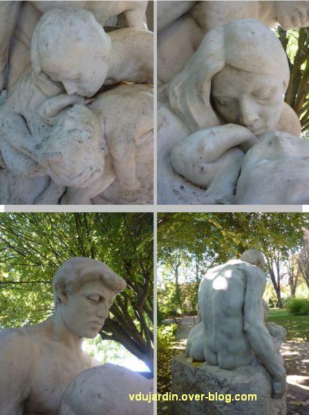 Tours, les mystères douloureux de C. Alaphilippe, 5, quatre vues de détail dont les visages