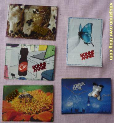 Un lot d'Atc de noël : vaches, papillon, abeille, nuit et coca