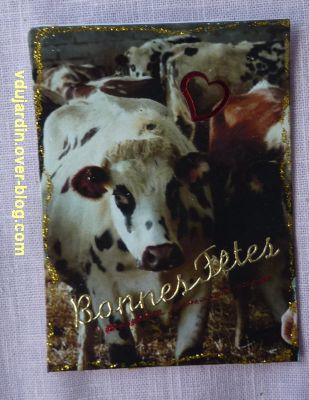 Une ATC vache pour les voeux 2012