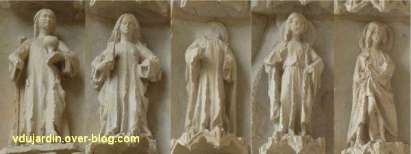 Poitiers, la cathédrale, portail sud, Vierges sages et folles, 4, les sages