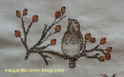 Concours oiseau, étape 3, détail de l'oiseau sur sa branche