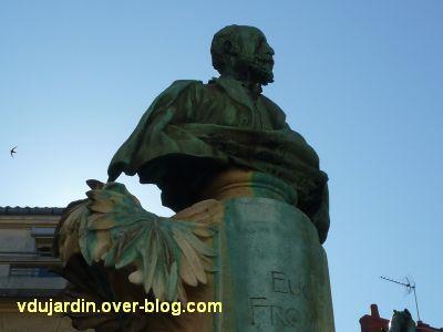 La Rochelle, monument à Fromentin par Dubois, 05, le buste