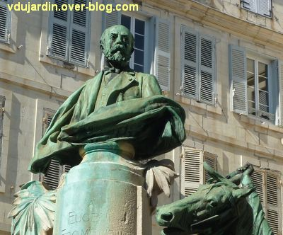 La Rochelle, monument à Fromentin par Dubois, 06, le buste