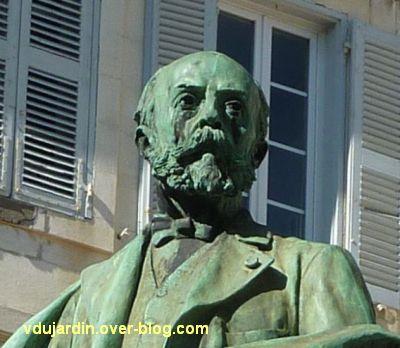 La Rochelle, monument à Fromentin par Dubois, 07, détail du visage