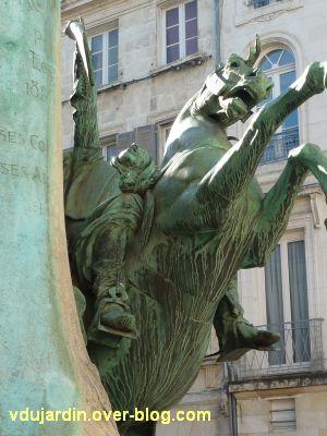 La Rochelle, monument à Fromentin par Dubois, 10, le cheval ruant