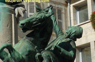 La Rochelle, monument à Fromentin par Dubois, 11, le cavalier arabe