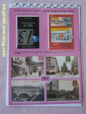 Voeux 2012, 07, de la part de Capucine, un calendrier original, la couverture
