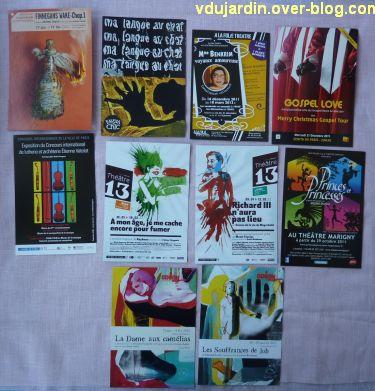 Voeux 2012, 12, de la part de Capucine, des cartes à publicité