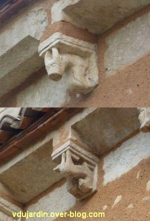 Défi photo, endroit/envers, Poitiers, 4, animaux sur des modillons du baptistère