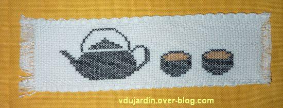 Un marque-page sur le thème du thé