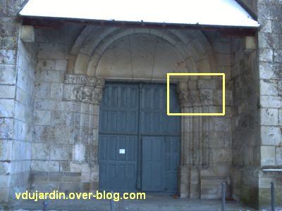 Poitiers, portail Saint-Michel de la cathédrale, droite, 01, position sur le portail,