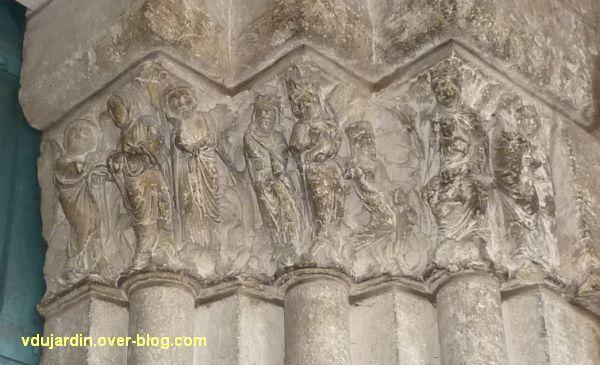 Poitiers, portail Saint-Michel de la cathédrale, droite, 02, vue générale