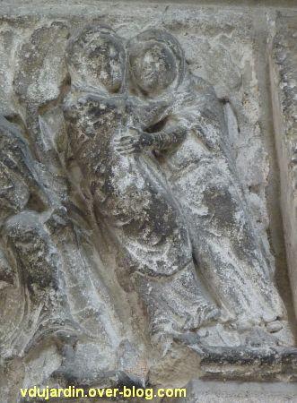 Poitiers, portail Saint-Michel de la cathédrale, droite, 05, la visitation