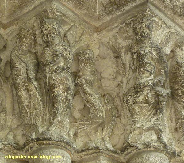 Poitiers, portail Saint-Michel de la cathédrale, droite, 06, l'adoration des mages