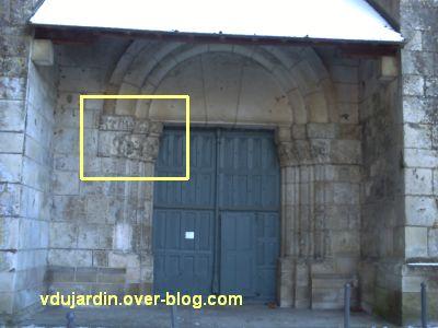 Poitiers, portail Saint-Michel de la cathédrale, gauche, 01, position sur le portail