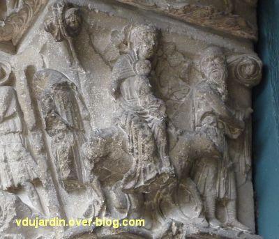 Poitiers, portail Saint-Michel de la cathédrale, gauche, 11, la fuite en Egypte