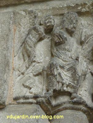 Poitiers, portail Saint-Michel de la cathédrale, gauche, 16, Hérode et démon