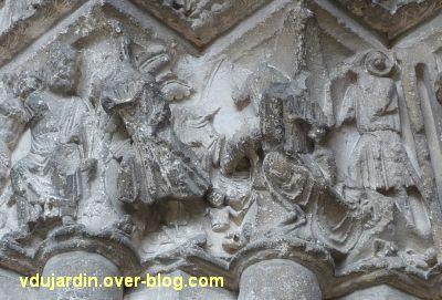 Poitiers, portail Saint-Michel de la cathédrale, gauche, 17, massacre des innocents