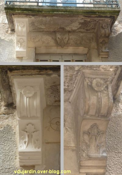 Poitiers, balcon rue Charles-Gide, problème de restauration