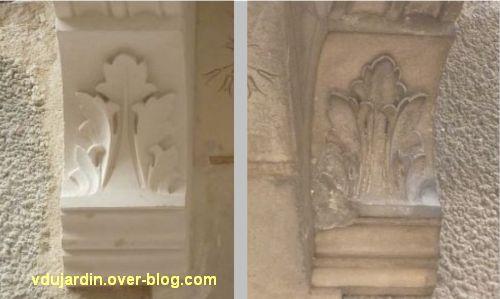 Poitiers, balcon rue Charles-Gide, problème de restauration, 2, détail