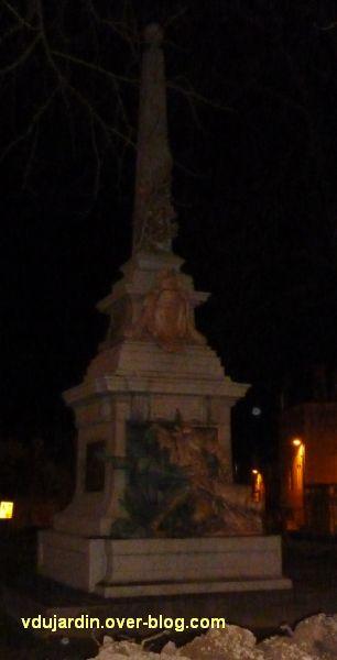 Poitiers, le monument aux morts de 1870, vu après le kärcher le 21 février 2012