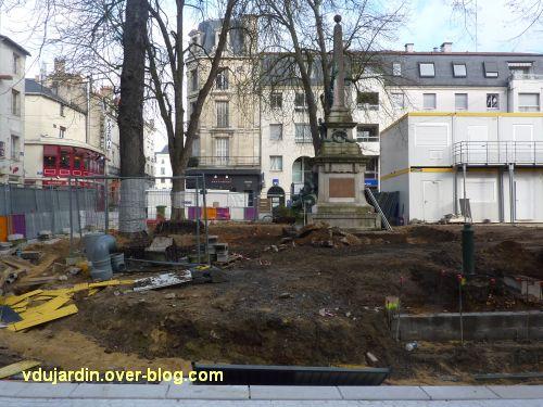 Poitiers, le monument aux morts de 1870, photographie du 27 janvier 2012