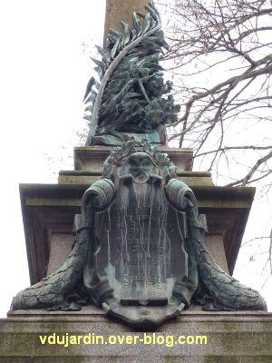 Poitiers, monument aux morts de 1870, 6, le haut