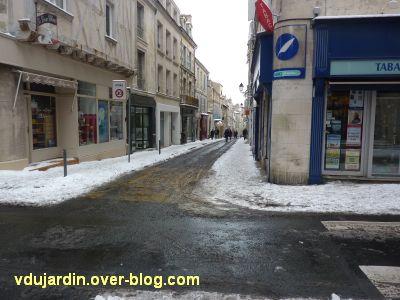 Défi photo, Poitiers en blanc, février 2012, 1, la Grand'Rue le 6 février