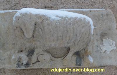 Défi photo, Poitiers en blanc, février 2012, 4, l'enseigne au mouton