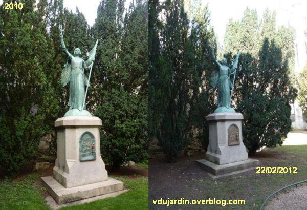 Poitiers, Jeanne d'Arc de Real del Sarte, monument avant et après sablage