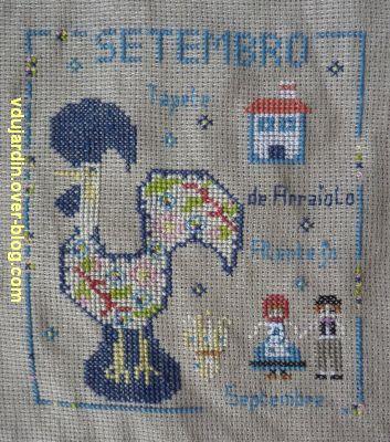SAL calendrier 2011 par défi de Toile, septembre, détail