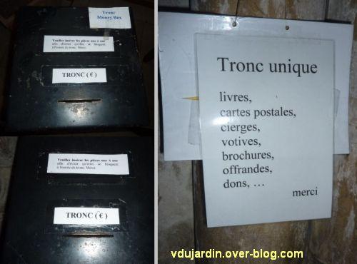 Défi photo, février 2012, des troncs, 2, instructions dans les églises