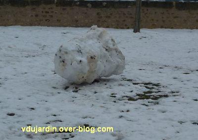 Défi photo, février 2012, des troncs, 4, bonhomme de neige-tronc