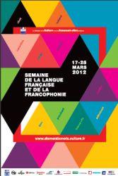 Affiche des dix mots de la langue française 2012