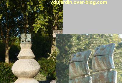 Amboise, la Fontaine de Max Ernst, 7, les deux petites grenouilles